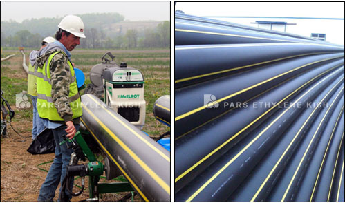 HDPE pipes for gas supply