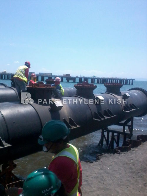 HDPE Pipe in Ship