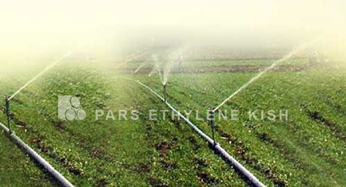 Polyethylene irrigation pipe
