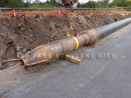 Large Diameter Sanitary Sewer Pipe Bursting
