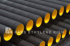Corrugated PE pipe